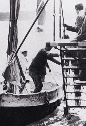 Mrs Fahnestock comes aboard at Dinard