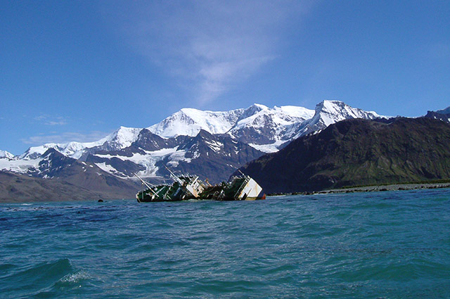 A shipwreck in The South Atlantic