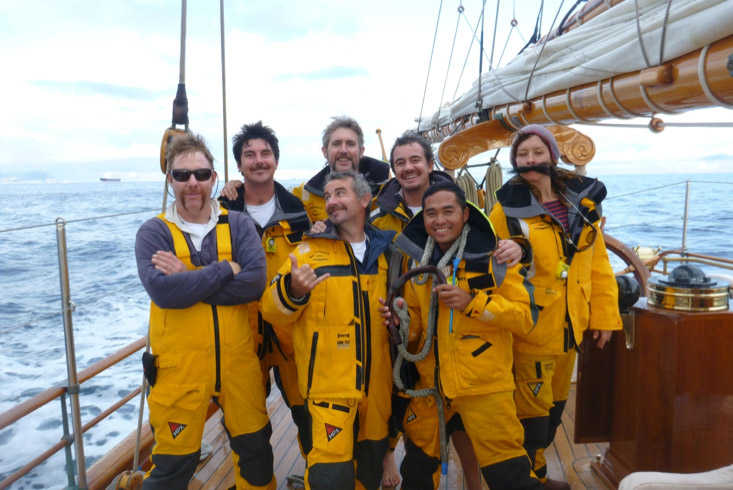 The crew of the Shenandoah in late 2012 – all sporting facial hair for Movember charity fundraising