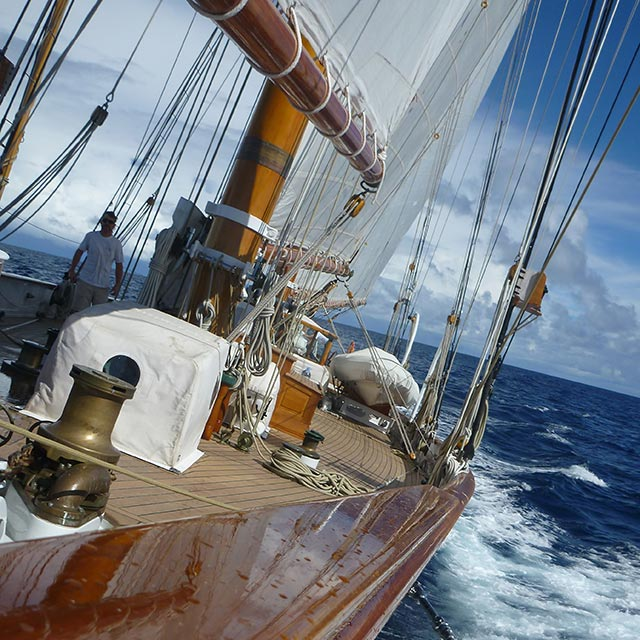 The Shenandoah making good headway in the mid-Atlantic