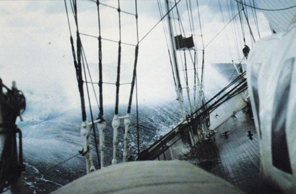 Shenandoah during an Atlantic crossing