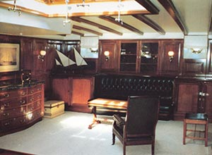 The sumptuously restored main saloon on Shenandoah in the 1980s
