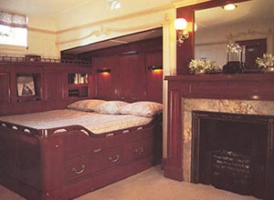 Restrained and polished elegance in the main stateroom of Shenandoah during the 1980s