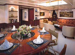Shenandoah's year 2000 refit brought her interiors back to glorious life