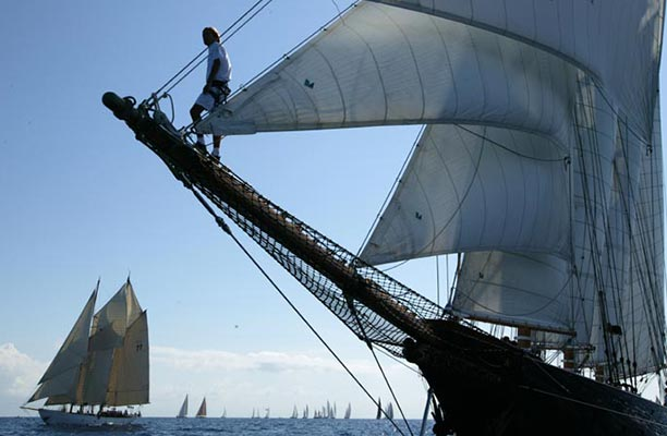 Shenandoah is one of the great classic sailing yachts