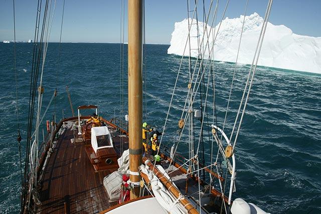 Icebergs were a constant danger